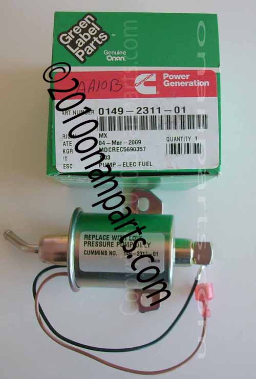 149-2311-01 KY Fuel Pump Electric Spec A-H